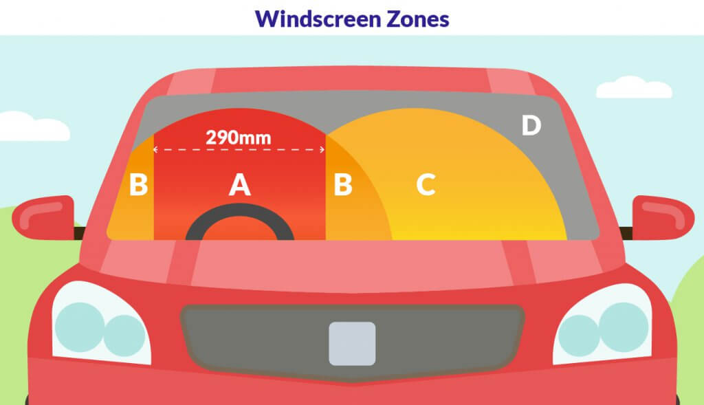 Is it legal to drive with a cracked windscreen?